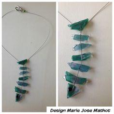 Glassfused fish pendant