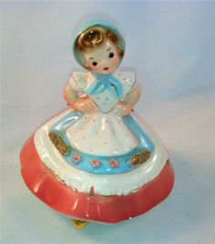 vintage Josef Originals girl with apron figurine