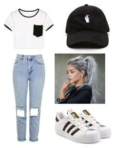 """""""Untitled #16"""" by adalenawertz ❤ liked on Polyvore featuring Topshop, WithChic and adidas Originals"""