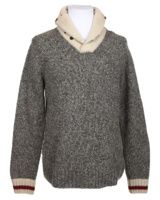jumper vintage knit wear grey cream -rokit.co.uk Vintage site with occasional touches of Kinsfolk Man!