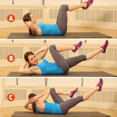 Win the battle of the bulge with THIS bicycle crunch exercise from our total-body training workout: http://www.womenshealthmag.com/fitness/military-workout?cm_mmc=Pinterest-_-womenshealth-_-content-fitness-_-onedumbbellworkout