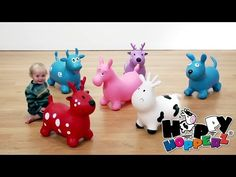 Ride On Toys/ Rocking Animals/ Happy Hopperz Red Deer Toys Baby Co, Ride On Toys, Blue Dog, Dinosaur Stuffed Animal, Baby Products, Nursery, Red Deer, Happy, Animals