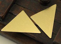 Brass Triangle Blank 10 Raw Brass Triangle Stamping Blanks