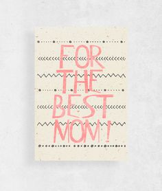 Mother's Day Cards – Mothers Day Card  for the best mom   – a unique product by WeJustLikePrints via en.DaWanda.com