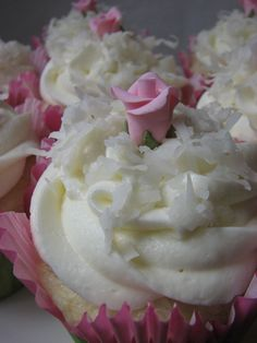 Heidi Bakes: Coconut cupcakes in tulip papers