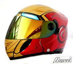 MASEI 830 IRON MAN DOT ECE MOTORCYCLE BIKE HELMET RED S M L XL