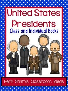 50% Off for the First Two Days United States Presidents Book Kindergarten and First Grade Version Use for an Entire Class Book or Individual Books {Also makes terrific bulletin board displays} Forty-four Pages of Current Presidents, Blank Template for the 45th President, Blank Template with NO Numbers for Future Presidents or an Extended Writing Assignment #TPT $Paid