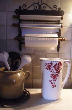 Broc pichet cruche faience ancienne k g lun ville rouen for Vasque ancienne en porcelaine