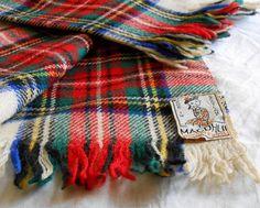 sciarpa vintage tartan originale scozzese anni 60 di cosediisa, €19.00