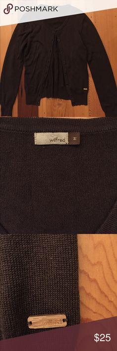 Aritizia Wilfred brown cardigan Classic brown sweater. Size medium Aritzia Sweaters Cardigans