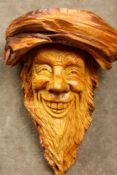 Wizard Wood Spirit Carving Christmas Gift by TreeWizWoodCarvings, $135.00