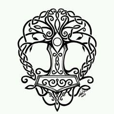 Tree of life/ Thors hammer