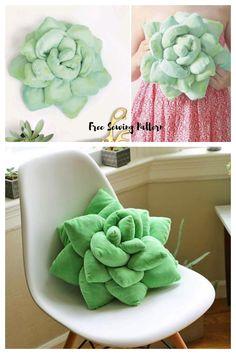 Sewing Pillow Patterns, Sewing Pillows, Diy Pillows, Pillow Crafts, Sewing Toys, Free Sewing, Diy Sewing Projects, Sewing Crafts, Plush Pattern