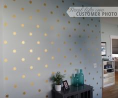 Star Wall Pattern Wall Decal Custom Vinyl Art by danadecals