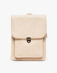 leather backpack with modern, clean lines