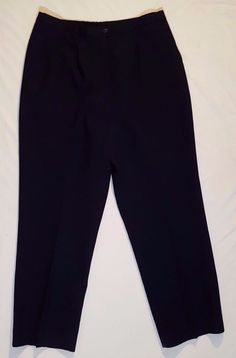 Vintage 1970s  Pendleton 100% Virgin Wool Pants Size 14 Womens Navy Blue Lined   #Pendleton #DressPants