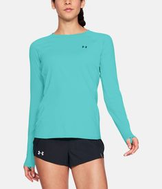 50 SPF running long sleeve shirt by Under Armour protects you from the sun  on your 04eb36b64d937