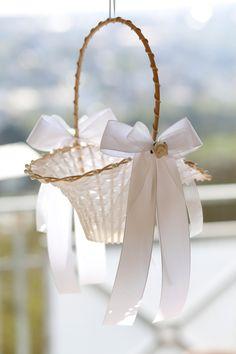 Romantische Bowknot Peal Blumenmädchen Korb Zeremonie Hochzeitsfest Dekor heiß