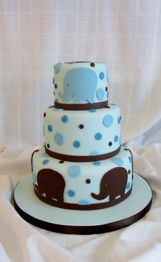 Elephant Cake. Even would be cute pink an could even be a cute baby shower cake