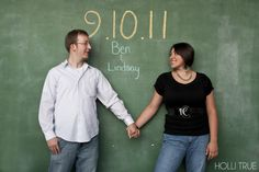 chalk save the date photo
