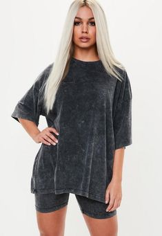 Image result for t-shirt dress and biker shorts
