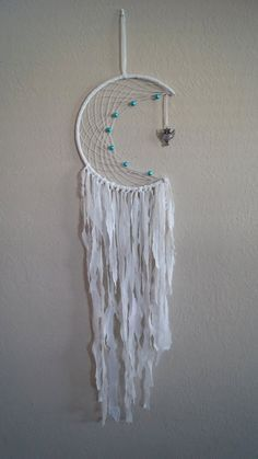 White Moon and Owl Dreamcatcher by AccordingtoAlice on Etsy
