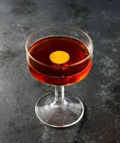 Devil's Backbone: rye whiskey, smoky single malt scotch, Amaro Averna, Gran Classico, Angostura bitters, orange bitters