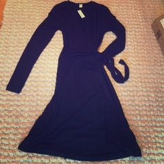 Black dress Long sleeved wrap dress from old navy. New and with tags! Old Navy Dresses