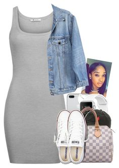 """Untitled #1756"" by toniiiiiiiiiiiiiii ❤ liked on Polyvore featuring Linda Farrow, Ralph Lauren, Louis Vuitton, T By Alexander Wang, Y/Project and Converse"