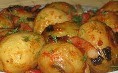 Retete Culinare - Cartofi noi la cuptor