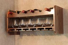 Custom Made Walnut Wine Rack