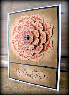 Merry Christmas! Using the Daydream Medallions stamp set with coordinating Floral Frames Framelits from Stampin' Up!