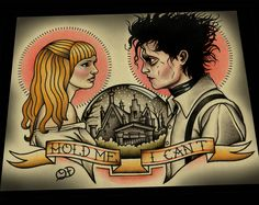Edward Scissorhands Tattoo Art Print by ParlorTattooPrints on Etsy, $30.00