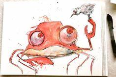New friend http://ift.tt/2hcdru1 Art watercolor acrylic doodle art painting artistsoftumblr watercolor