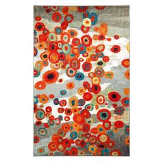 Tossed Floral Multi-Colored Rectangular: 8 Ft. x 10 Ft. Rug