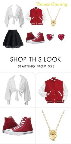 """""""VanossGaming Inspired Female Outfit"""" by sharzard15 ❤ liked on Polyvore featuring Converse, Lord & Taylor and Bling Jewelry"""