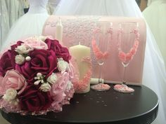 Wedding accessories in pink