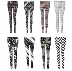 Womens Sexy Summer Aztec Tribal Stripped Muli Colour Leggings Pantyhose Jeggings