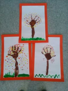 First Grade is a Treat!: Love these fall trees...do one for each season and label...combine into a seasons book