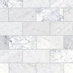 Bianco Carrara Honed Marble Tile - 6 x 12 - 100403401 Bathroom Floor Tiles, Shower Floor, Tile Floor, Marble Bathrooms, Wall Tile, Silver Bathroom, Tub Tile, Shower Tiles, Brown Bathroom