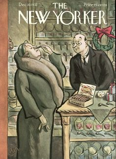 "Slide Show: Holiday Covers - The New Yorker: ""December 10, 1932,"" by William Steig."