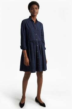From work to the weekend, French Connection's range of women's dresses has got you covered. Shop women's dresses from French Connection now. Day Dresses, Dresses For Sale, French Connection Dress, A Line Skirts, Dress Collection, Indigo, Long Sleeve Shirts, Cool Outfits, Shirt Dress