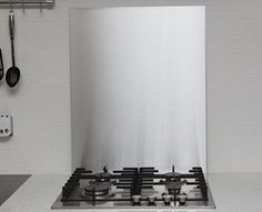 0.9mm Thick Brushed Stainless Steel Kitchen Splashback 600mm x 450mm