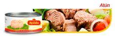 Atún en lata - Delicioso para acompañar comidas, preparar snacks, preparar fáciles  recetas como spaguetis y ensaladas.  #food #comida #ensalada #creativo #lata #atun #acompaña #viajes #almuerzo Tamales, Frijoles, Snack, Beef, Food, Salsa Chicken, Sausages, Preserve, Salads