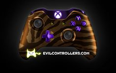 XboxOneController-OrangeZebra   Flickr - Photo Sharing! #XboxOneController #Xbox1Controller #CustomXboxOneController #ModdedXboxOneController #CustomController #moddedcontroller