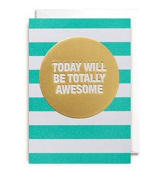 Today Will Be Awesome Greeting Card | LAGOM DESIGN