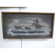 Roping Cowboy Cowboy Art Cowboy Sign Western Art Old West Sign Cowboy... ($45) ❤ liked on Polyvore featuring home, home decor, wall art, grey, home & living, home décor, wall décor, wall hangings, painted signs and cowboy home decor