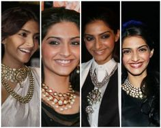 """""""Sonam's big statement pieces add just the right amount of glamour to compliment her effortless style."""" #jewelry"""