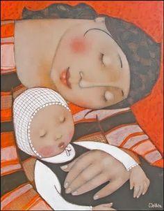 Pinzellades al món: Il·lustracions de mamàs i bebés: tendresa / Ilustraciones de mamás y bebés: ternura / Illustrations of mothers and babies: tenderness