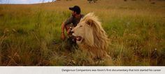 Lion Whisperer hugs pal while wearing a Go Pro - Critter ...